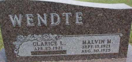 WENDTE, CLARICE L. - Dixon County, Nebraska | CLARICE L. WENDTE - Nebraska Gravestone Photos