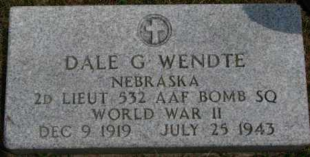 WENDTE, DALE G. (WW II) - Dixon County, Nebraska   DALE G. (WW II) WENDTE - Nebraska Gravestone Photos