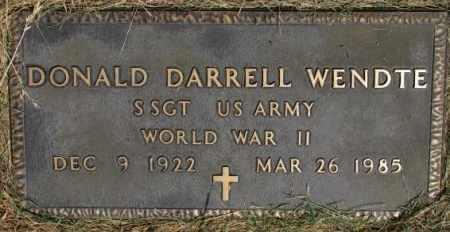 WENDTE, DONALD DARRELL (WW II) - Dixon County, Nebraska | DONALD DARRELL (WW II) WENDTE - Nebraska Gravestone Photos