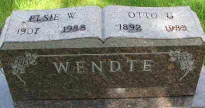 WENDTE, ELSIE W. - Dixon County, Nebraska | ELSIE W. WENDTE - Nebraska Gravestone Photos