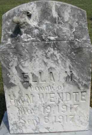 WENDTE, ELLA M. - Dixon County, Nebraska | ELLA M. WENDTE - Nebraska Gravestone Photos