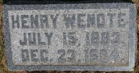 WENDTE, HENRY - Dixon County, Nebraska   HENRY WENDTE - Nebraska Gravestone Photos