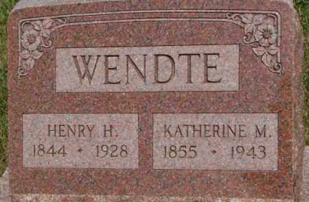 WENDTE, KATHERINE M. - Dixon County, Nebraska | KATHERINE M. WENDTE - Nebraska Gravestone Photos