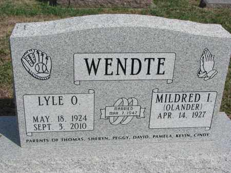 WENDTE, MILDRED I. - Dixon County, Nebraska | MILDRED I. WENDTE - Nebraska Gravestone Photos