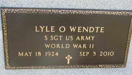 WENDTE, LYLE O. (WW II) - Dixon County, Nebraska   LYLE O. (WW II) WENDTE - Nebraska Gravestone Photos