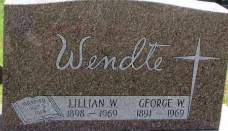 WENDTE, LILLIAN W. - Dixon County, Nebraska | LILLIAN W. WENDTE - Nebraska Gravestone Photos