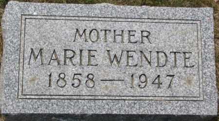 WENDTE, MARIE - Dixon County, Nebraska | MARIE WENDTE - Nebraska Gravestone Photos