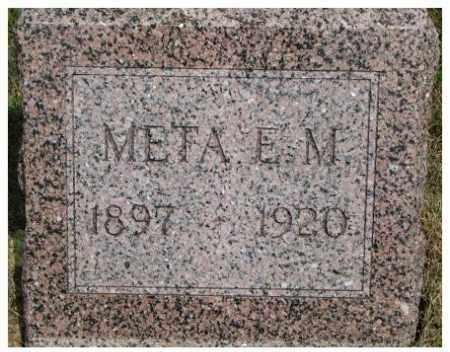 WENDTE, META E.M. - Dixon County, Nebraska | META E.M. WENDTE - Nebraska Gravestone Photos