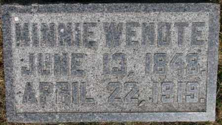 WENDTE, MINNIE - Dixon County, Nebraska | MINNIE WENDTE - Nebraska Gravestone Photos