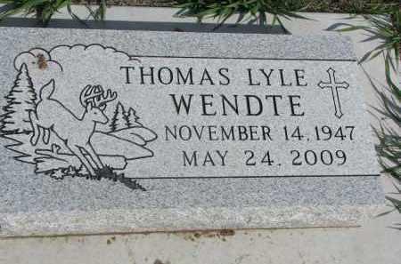WENDTE, THOMAS LYLE - Dixon County, Nebraska | THOMAS LYLE WENDTE - Nebraska Gravestone Photos