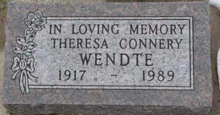 CONNERY WENDTE, THERESA - Dixon County, Nebraska | THERESA CONNERY WENDTE - Nebraska Gravestone Photos