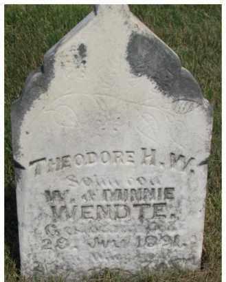 WENDTE, THEODORE H.W. - Dixon County, Nebraska | THEODORE H.W. WENDTE - Nebraska Gravestone Photos
