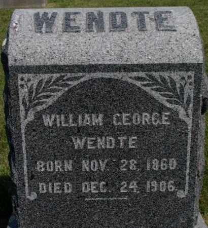 WENDTE, WILLIAM GEORGE - Dixon County, Nebraska   WILLIAM GEORGE WENDTE - Nebraska Gravestone Photos