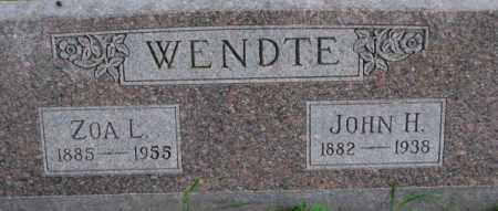 WENDTE, JOHN H. - Dixon County, Nebraska | JOHN H. WENDTE - Nebraska Gravestone Photos