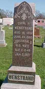 WENSTRAND, JOHANNA S. - Dixon County, Nebraska | JOHANNA S. WENSTRAND - Nebraska Gravestone Photos
