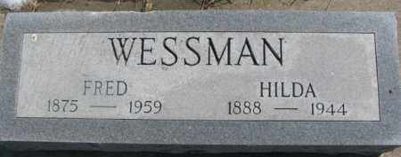 WESSMAN, FRED - Dixon County, Nebraska | FRED WESSMAN - Nebraska Gravestone Photos