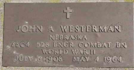 WESTERMAN, JOHN A. (WW II MARKER) - Dixon County, Nebraska | JOHN A. (WW II MARKER) WESTERMAN - Nebraska Gravestone Photos