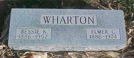 WHARTON, BESSIE K. - Dixon County, Nebraska | BESSIE K. WHARTON - Nebraska Gravestone Photos