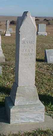 WHARTON, JESSIE - Dixon County, Nebraska | JESSIE WHARTON - Nebraska Gravestone Photos