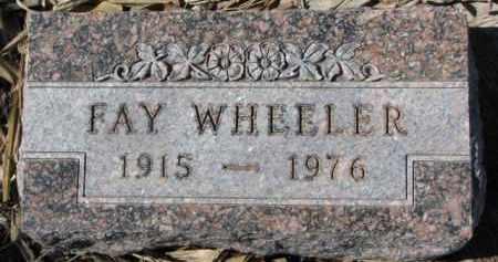 WHEELER, FAY - Dixon County, Nebraska | FAY WHEELER - Nebraska Gravestone Photos
