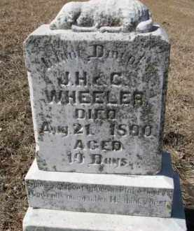 WHEELER, INFANT (J.H. & C.) - Dixon County, Nebraska | INFANT (J.H. & C.) WHEELER - Nebraska Gravestone Photos