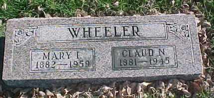 WHEELER, MARY I. - Dixon County, Nebraska | MARY I. WHEELER - Nebraska Gravestone Photos