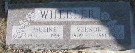 WHEELER, VERNON - Dixon County, Nebraska | VERNON WHEELER - Nebraska Gravestone Photos