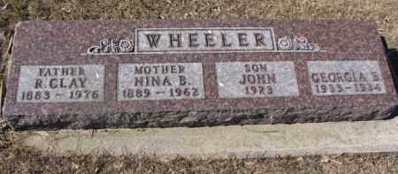 WHEELER, R. CLAY - Dixon County, Nebraska   R. CLAY WHEELER - Nebraska Gravestone Photos