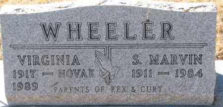 WHEELER, S. MARVIN - Dixon County, Nebraska | S. MARVIN WHEELER - Nebraska Gravestone Photos