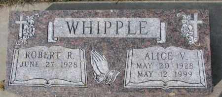 WHIPPLE, ALICE V. - Dixon County, Nebraska | ALICE V. WHIPPLE - Nebraska Gravestone Photos