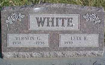 WHITE, VERNON G. - Dixon County, Nebraska | VERNON G. WHITE - Nebraska Gravestone Photos