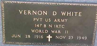 WHITE, VERNON D. (WW II MARKER) - Dixon County, Nebraska   VERNON D. (WW II MARKER) WHITE - Nebraska Gravestone Photos