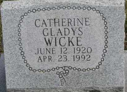 WICKE, CATHERINE GLADYS - Dixon County, Nebraska | CATHERINE GLADYS WICKE - Nebraska Gravestone Photos