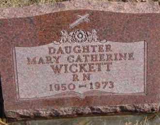 WICKETT, MARY CATHERINE - Dixon County, Nebraska | MARY CATHERINE WICKETT - Nebraska Gravestone Photos
