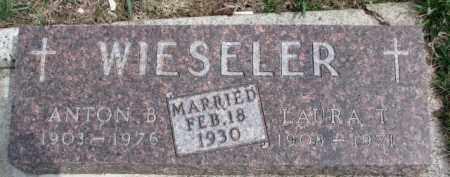 WIESELER, LAURA T. - Dixon County, Nebraska | LAURA T. WIESELER - Nebraska Gravestone Photos