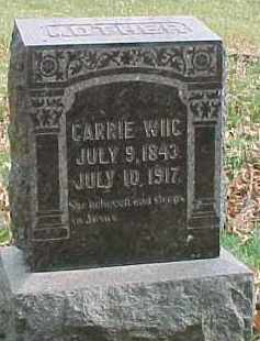 WIIG, CARRIE - Dixon County, Nebraska   CARRIE WIIG - Nebraska Gravestone Photos
