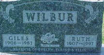 WILBUR, GILES - Dixon County, Nebraska | GILES WILBUR - Nebraska Gravestone Photos