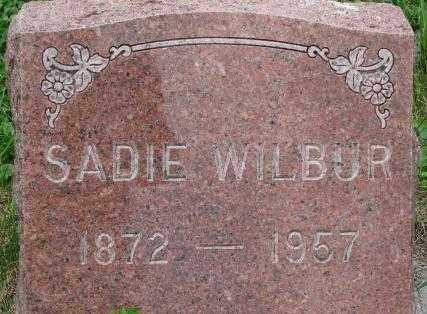 WILBUR, SADIE - Dixon County, Nebraska | SADIE WILBUR - Nebraska Gravestone Photos