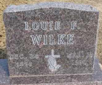 WILKE, LOUIE F. - Dixon County, Nebraska | LOUIE F. WILKE - Nebraska Gravestone Photos