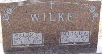 WILKE, MILDRED A. - Dixon County, Nebraska | MILDRED A. WILKE - Nebraska Gravestone Photos