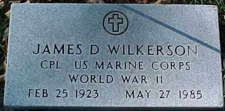 WILKERSON, JAMES D  (WWII MARKER) - Dixon County, Nebraska   JAMES D  (WWII MARKER) WILKERSON - Nebraska Gravestone Photos