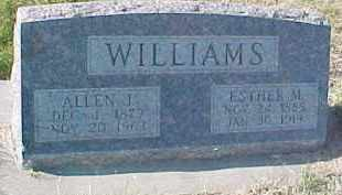 WILLIAMS, ESTHER M. - Dixon County, Nebraska | ESTHER M. WILLIAMS - Nebraska Gravestone Photos