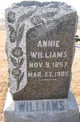 WILLIAMS, ANNIE - Dixon County, Nebraska | ANNIE WILLIAMS - Nebraska Gravestone Photos