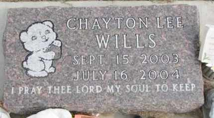 WILLS, CHAYTON LEE - Dixon County, Nebraska | CHAYTON LEE WILLS - Nebraska Gravestone Photos