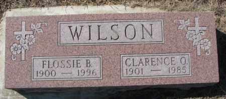 WILSON, FLOSSIE B. - Dixon County, Nebraska   FLOSSIE B. WILSON - Nebraska Gravestone Photos