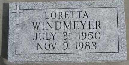 WINDMEYER, LORETTA - Dixon County, Nebraska   LORETTA WINDMEYER - Nebraska Gravestone Photos
