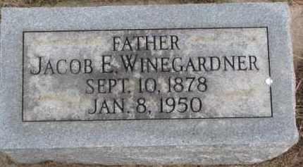 WINEGARDNER, JACOB E. - Dixon County, Nebraska | JACOB E. WINEGARDNER - Nebraska Gravestone Photos