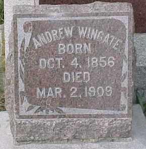 WINGATE, ANDREW - Dixon County, Nebraska   ANDREW WINGATE - Nebraska Gravestone Photos