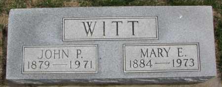 WITT, JOHN P. - Dixon County, Nebraska | JOHN P. WITT - Nebraska Gravestone Photos