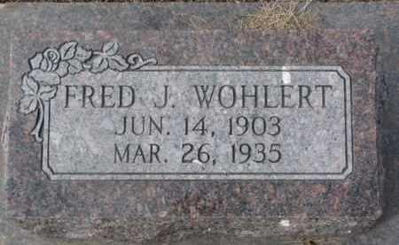 WOHLERT, FRED J. - Dixon County, Nebraska   FRED J. WOHLERT - Nebraska Gravestone Photos